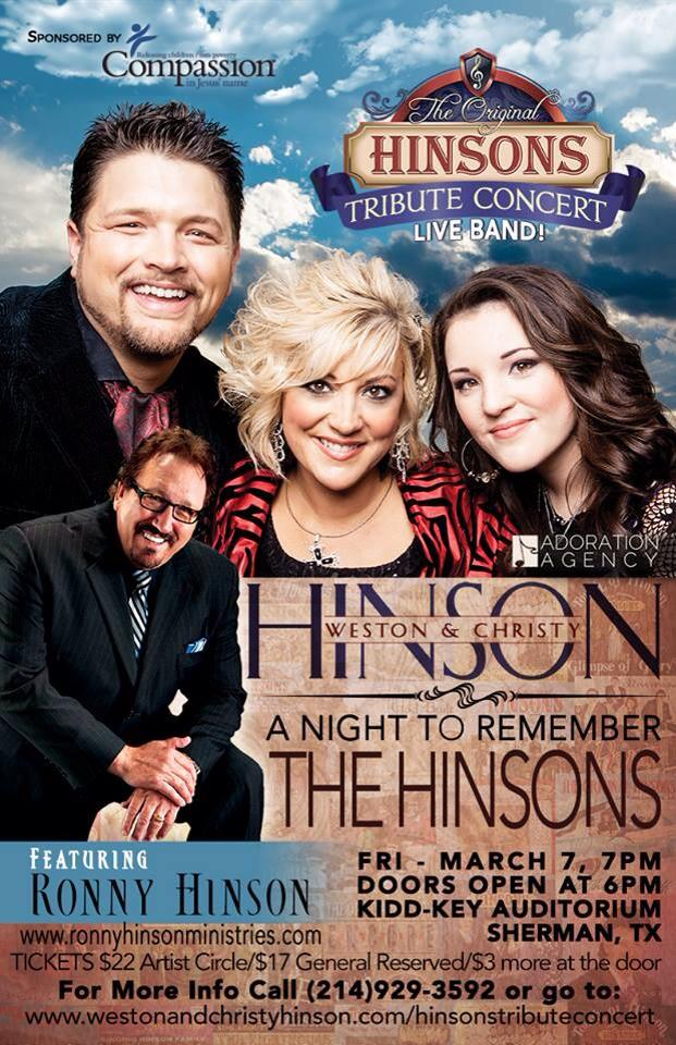 Hinsons Concert Poster