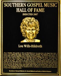 Lou Hildreth Plaque