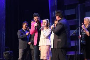 Katie sings with Jason Crabb and Mike Bowling