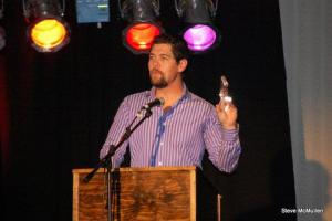 Jason Crabb at Creekside accepting Diamond Award
