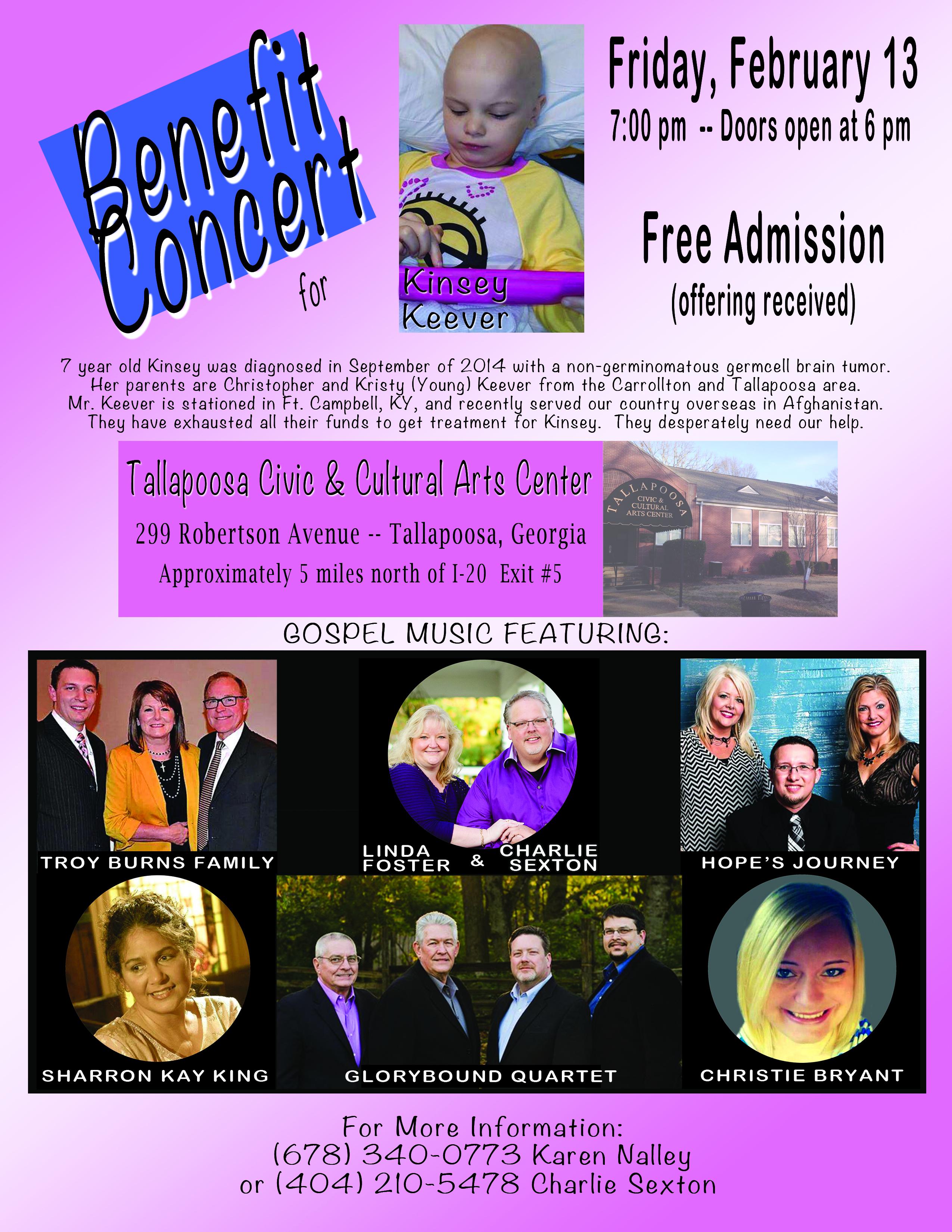 Kinsey Benefit Concert