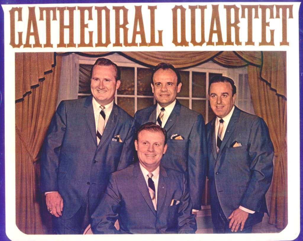 Cathedral Quartet standing Bobby Clark, Danny Koker, George Younce. Seated Glen Payne