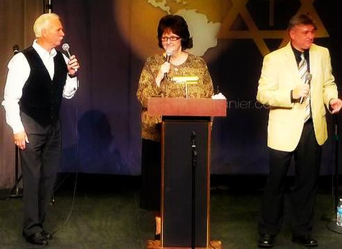Johnny, Joyce and John Lanier at John Lanier's Anniversay 8/9/14