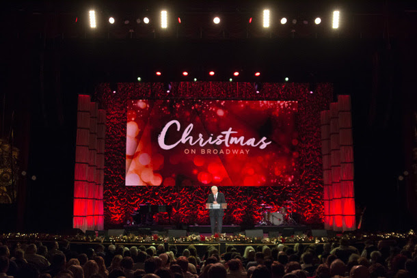 StowTown artists perform at Dr. David Jeremiah's The Sights and Sounds of Christmas on Broadway.