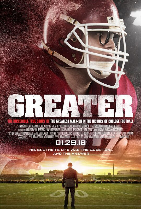 """BRUMLEY MUSIC PLAYS PIVOTAL ROLE IN """"GREATER"""" - FILM RELEASES JANUARY 29TH"""
