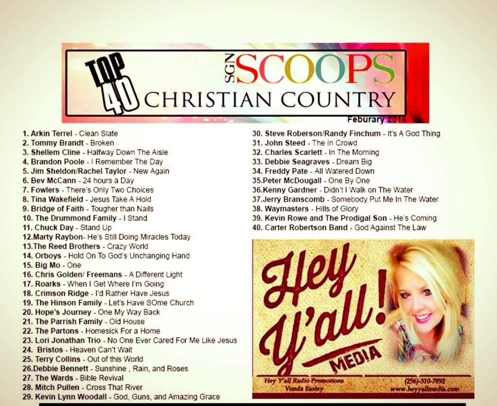 Christian Country Top 40 From SGNScoops