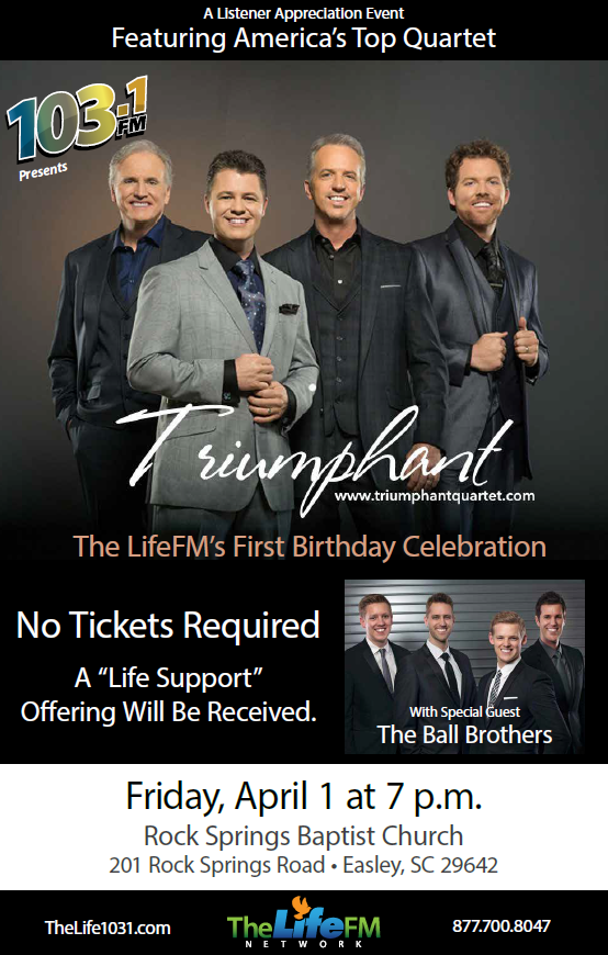 The LifeFM's First Birthday Celebration Featuring Triumphant Quartet and The Ball Brothers