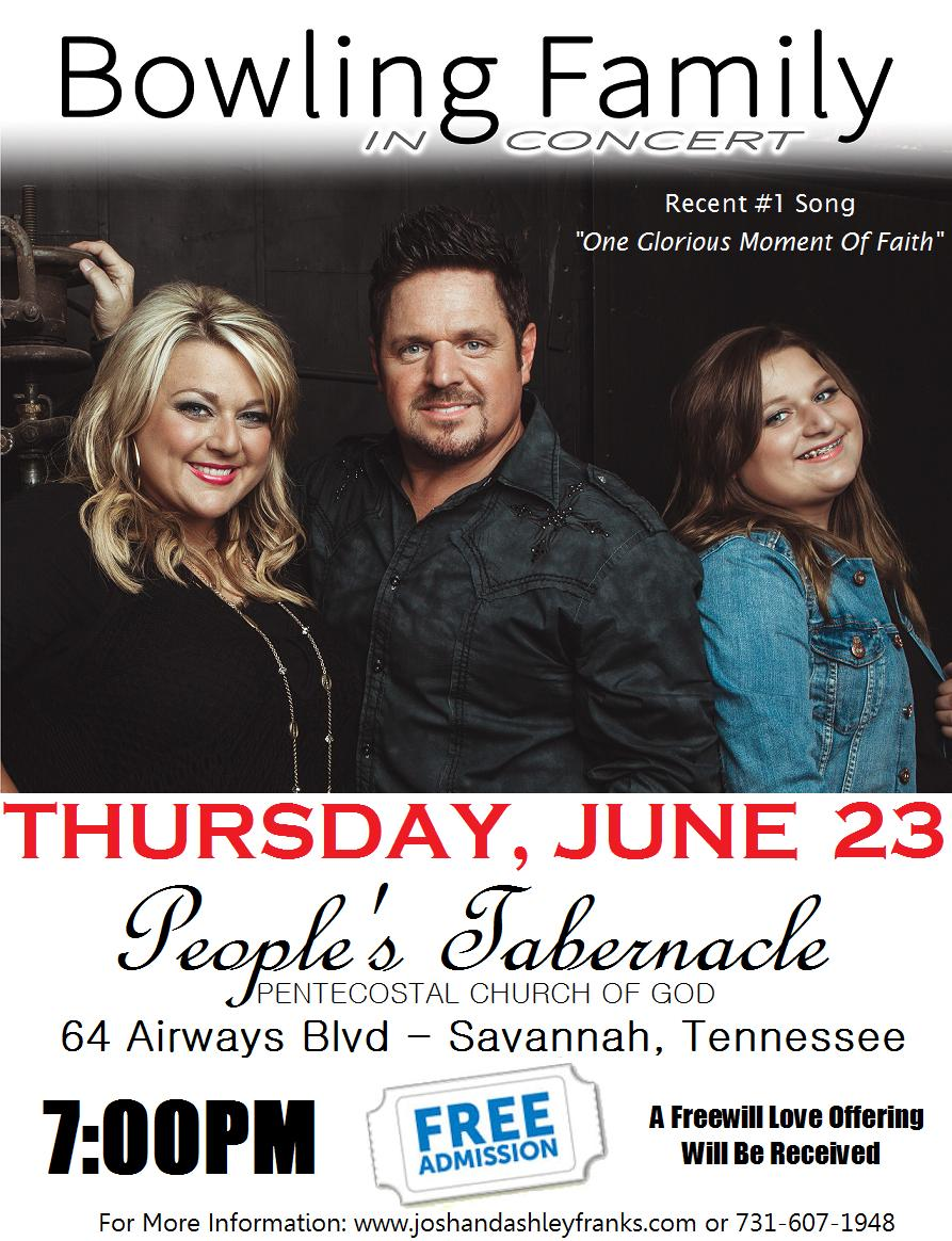 Bowling Family In Concert June 23