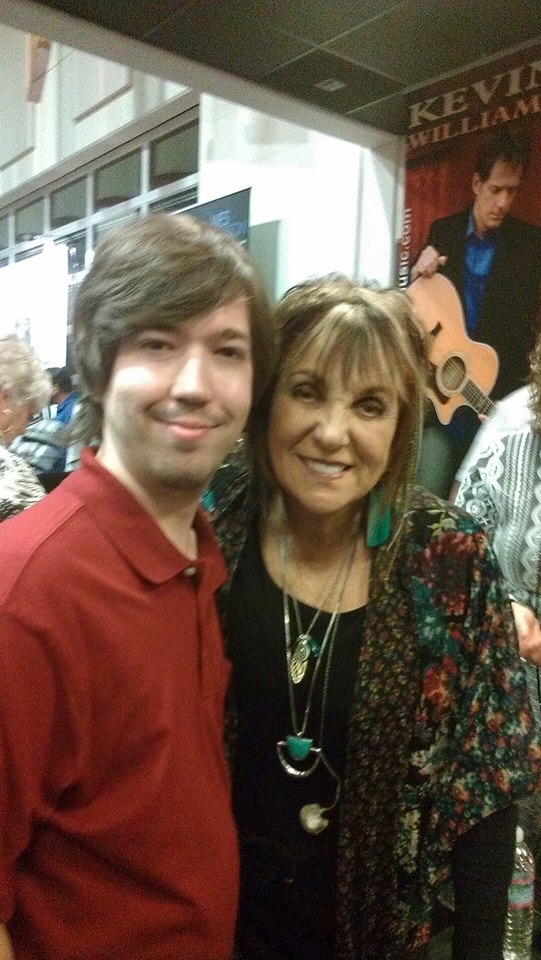 Writer Justin Gilmore with Lily Isaacs