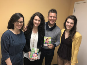 Lindsay and Joseph Habedank with Simple Grace's Katie Haynes (L) and Nicole Riley (R).