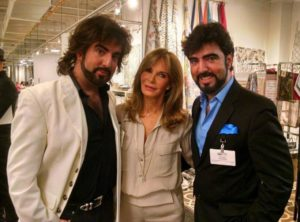 The Chrisagis Brothers with with actress Jaclyn Smith of Charlie's Angels