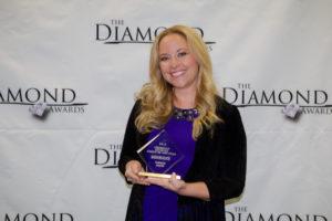 Sarah Davison at 2016 Diamond Awards