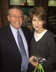 Rob Patz with Diamond Award winner Kenna West