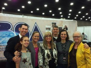 Tim Lovelace and family with Beckie Simmons (center) and Todd Hames and his wife, Melinda.