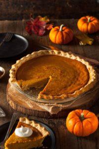 Rob Patz writes his Thanksgiving prayer - pumpkin pie