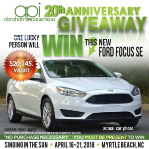 Abraham Productions Celebrates 20 Years with New Car Giveaway