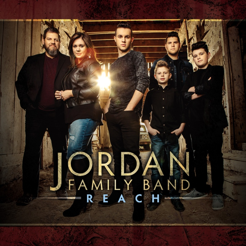 The Jordan Family Band features, from left, Josh Jordan, Randa Jordan, Hutch Jordan, Grant Jordan, Keenan Atkinson and Alex Jordan. 'Reach' will be available from Skyland Records on July 13.