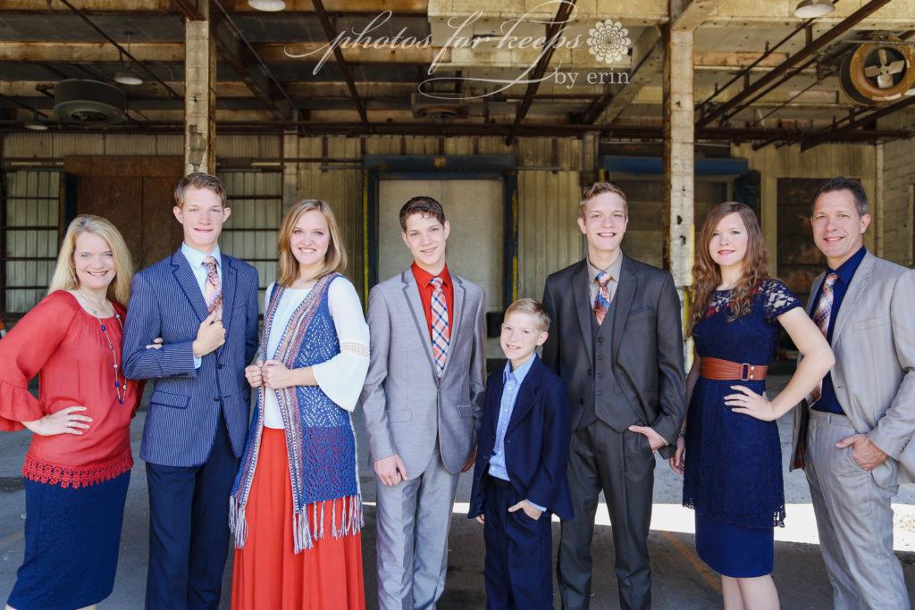 Danielle Allen with the entire Allen Family
