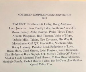 Artists appearing at NGSC 2018