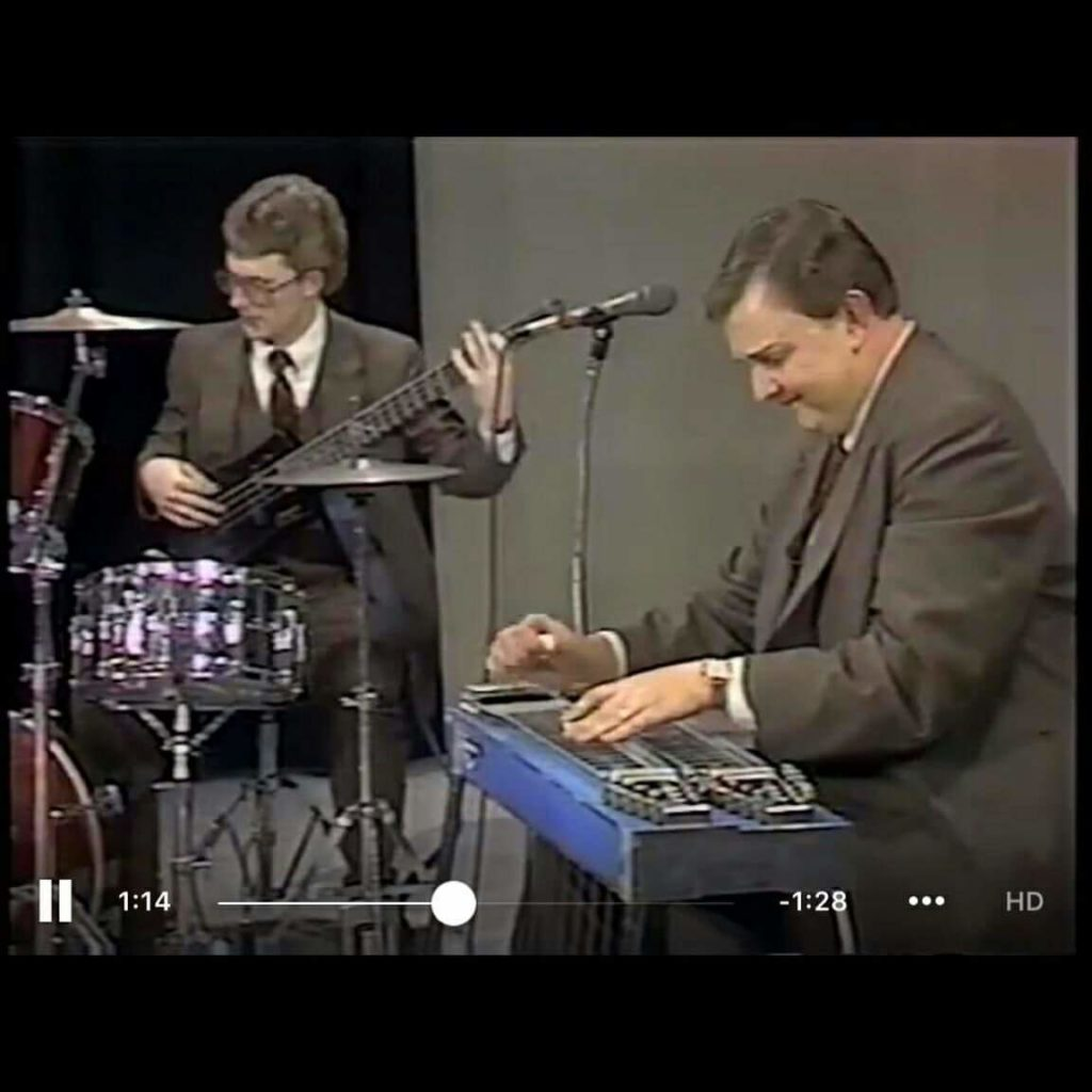 Greg Fox and Gary Dillard circa. 1980s with the Kingsmen Quartet