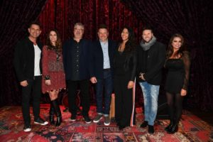 L-R: Avalon's Greg & Janna Long, Don Koch (General Manager Red Street Records), Jay DeMarcus (CEO/Owner, Red Street Records, Avalon's Dani Rocca and Jody McBrayer, and Lauren James pose after a press conference held at Analog at the Hutton Hotel on Wednesday, October 24, 2018. Photo ©2018 Jason Davis / Red Street Records