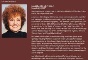 Lou Wills Hildreth bio