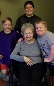Beverly Oxenrider with her grandchildren