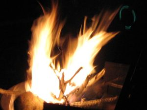 close shot of fire