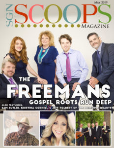 The Freemans grace the cover of the May 2019 SGNScoops Magazine