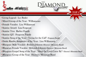 Butler Music Group 2019 Diamond Awards Top Five nominees