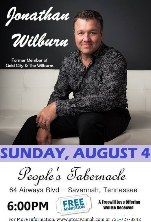 Jonathan Wilburn In Concert August 4