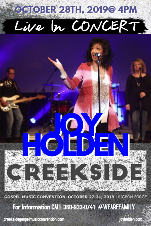 Joy Holden at Creekside. Singing on the Square