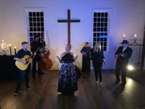 Tonja Rose and music video cast at Historic King's Chapel in Arrington, TN