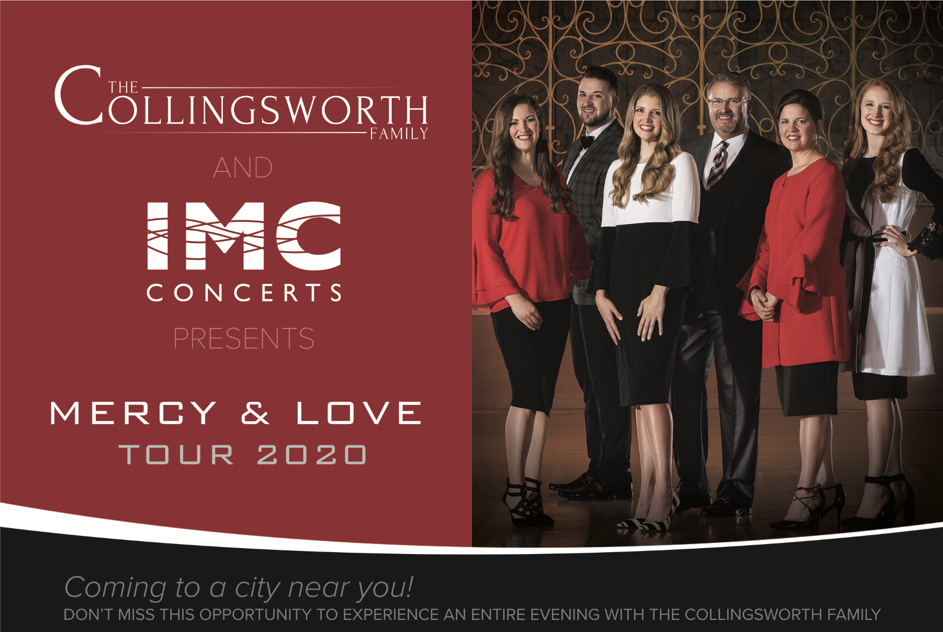 IMC CONCERTS TEAMS WITH THE COLLINGSWORTH FAMILY TO PRESENT MERCY & LOVE TOUR COAST TO COAST