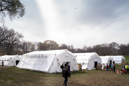 Samaritan's Purse, in Collaboration with Mount Sinai Health System, Opens Emergency Field Hospital in New York's Central Park in Response to the Coronavirus Pandemic